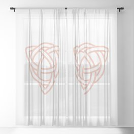 Triquetra or Celtic Knot Sheer Curtain