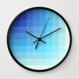 Urmahlullu - Blue Decorative Abstract Art Pattern Wall Clock