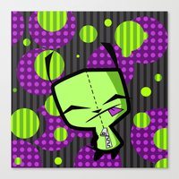 invader zim Canvas Prints featuring Happy Gir from Invader Zim by NefariousBear