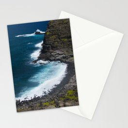 Hawaii Tropical Turquoise Ocean Cove With Bubbly Surf Stationery Cards