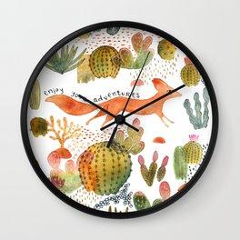 Adventure Fox Wall Clock