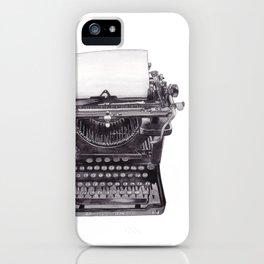 Vintage Remington Standard Typewriter iPhone Case