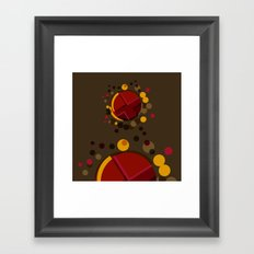 Circular Brown Abstract Dots Texture Framed Art Print