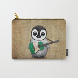 Baby Penguin Playing Nigerian Flag Acoustic Guitar Carry-All Pouch