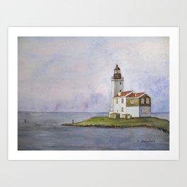Noord Holland Lighthouse Art Print