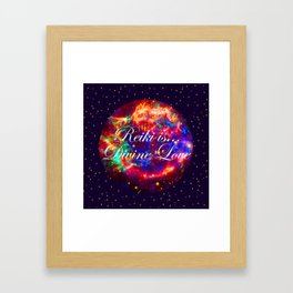 Reiki is Divine Love | The Energy it Flows | Going with the Flow Framed Art Print