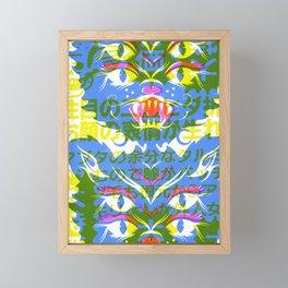 4 Eyed Feline Framed Mini Art Print