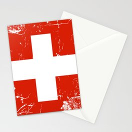 Switzerland flag with grunge effect Stationery Cards