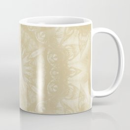 Peaceful kaleidoscope in beige Coffee Mug