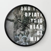 medicine Wall Clocks featuring Medicine  by AEP Designs