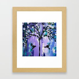 Purple Tree of Life Framed Art Print