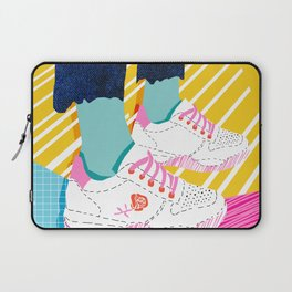 Butter - throwback 80s style vibes shoes fashion sneakers 1980's trend memphis art Laptop Sleeve