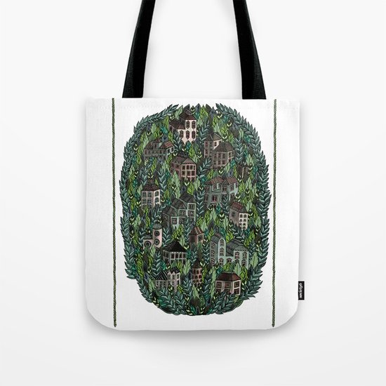 Little Forest Town Tote Bag