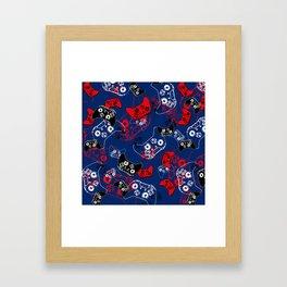 Video Game Red White & Blue 1 Framed Art Print
