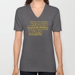 Beard Wars Funny Sci-Fi Design Unisex V-Neck