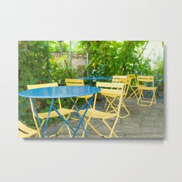Dinner in the French Countryside Metal Print