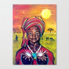June Abundance Goddess Canvas Print