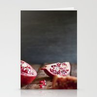 pomegranate Stationery Cards featuring Pomegranate  by Tina Crespo