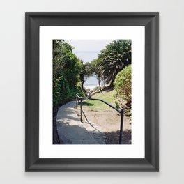 More Mesa Beach Steps Framed Art Print