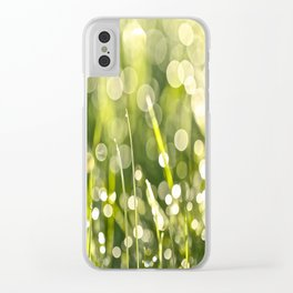 Beautiful Morning Dew On A Green Grass #decor #society6 #buyart Clear iPhone Case
