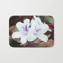 WHITE BLOSSOM - Rhododendron Bath Mat