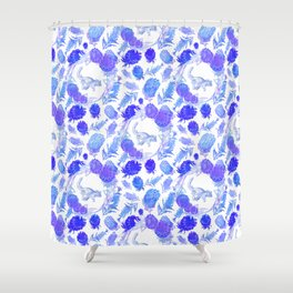 Beautiful Australian Native Floral print with Possums Shower Curtain