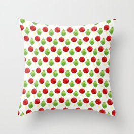 Watercolor Ornaments Throw Pillow