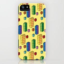 Block pattern iPhone Case