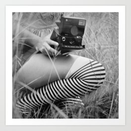 Polaroid Girl Art Print