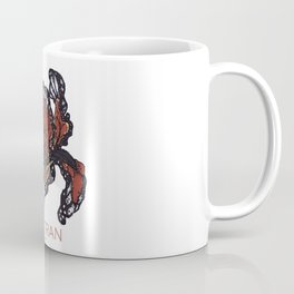 T.F TRAN ORANGE BUTTERFLY IRIS Coffee Mug