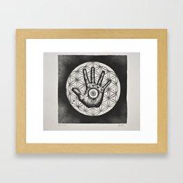 Grasping Infinite Framed Art Print