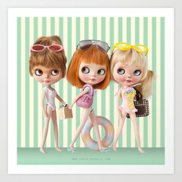 BEACH BLYTHE DOLL BY ERREGIRO Art Print