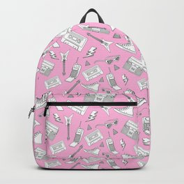 Livin in the 90s // Retro Pink Backpack