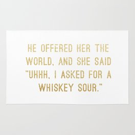 Whiskey Sour Rug