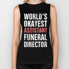 DesignFor A Great Assistant Funeral Director Biker Tank