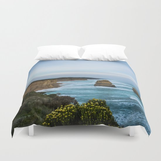 Twelve Apostles in Blue Duvet Cover