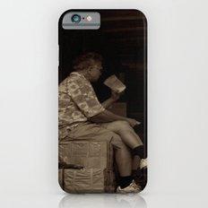 Man eating inside the van. Chinatown, New York City iPhone 6s Slim Case
