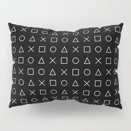 gamer pattern black and white  - gaming design black Pillow Sham