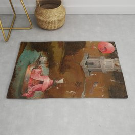 """Hieronymus Bosch """"The Last Judgment"""" triptych (Bruges) left panel Rug"""