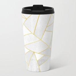 White Stone Metal Travel Mug