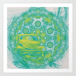 wreck in mandala Art Print