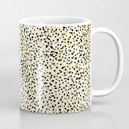 Salna - gold foil modern black and gold gender neutral art abstract design decor minimal trendy urba Coffee Mug
