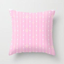 Kawaii Pink Throw Pillow