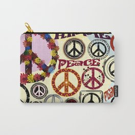 Flower Power Peace Signs Coctail Carry-All Pouch