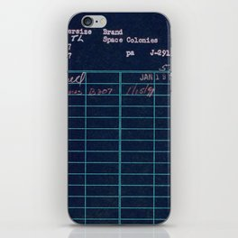 Library Card 797 Negative iPhone Skin
