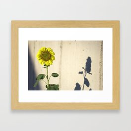 Concrete Mirror Framed Art Print
