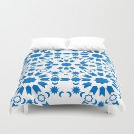 Blue Arabesque Duvet Cover