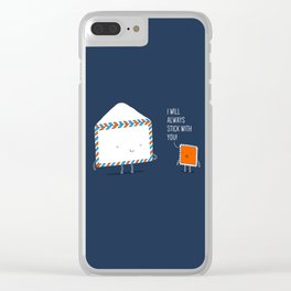 Stick with you Clear iPhone Case