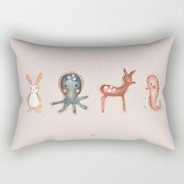 Animal Crackers Rectangular Pillow