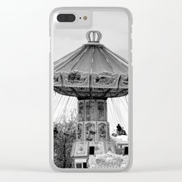 Carousel black and white #carousel #blackandwhite Clear iPhone Case